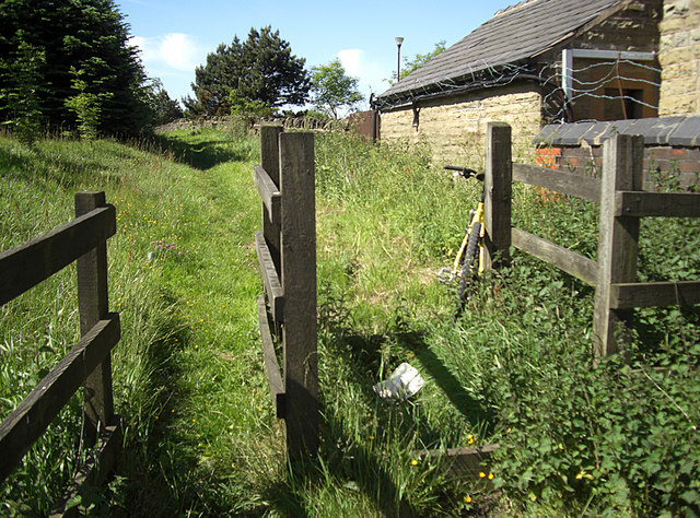 Bridleway stile off Ship Lane