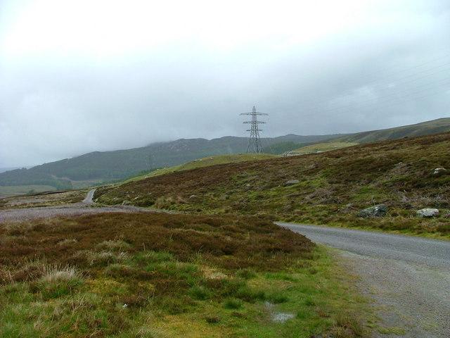 Pylon on the grouse moor