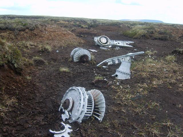 Aircrash Wreckage, Knock Fell