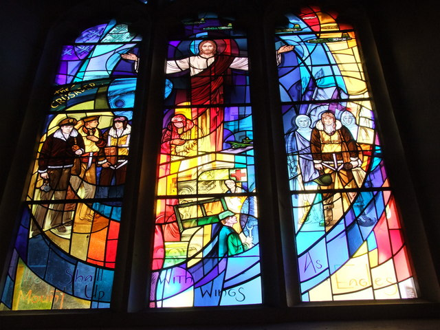 The Window of the Crusaders, Saint Mary's Church, Little Easton