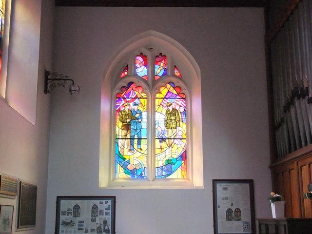 The Window of Friendship and Peace, Saint Mary's Church, Little Easton