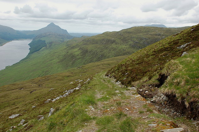 Stalkers' track on Meallan Liath Beag