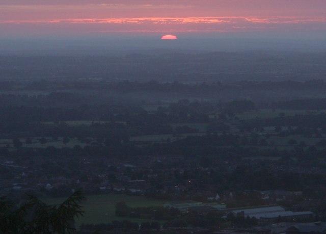 Sunrise over the Severn Plain