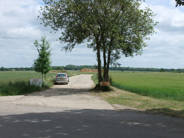 Road into Great Dunmow WWII airfield
