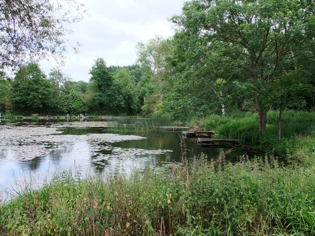 Lake in The Gardens of Easton Lodge