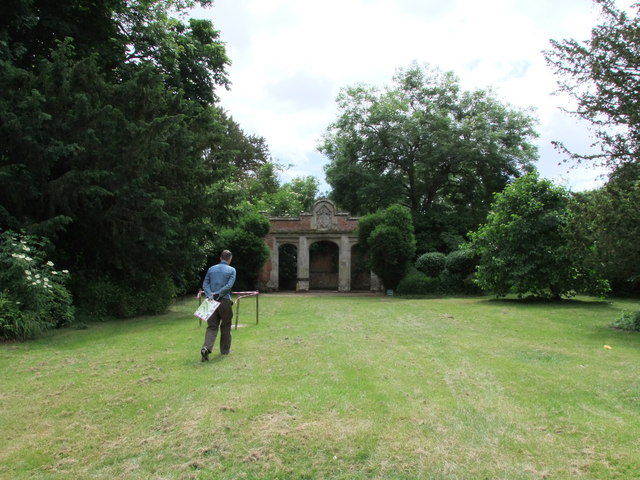 Shelly  Pavilion in the Gardens of Easton Lodge
