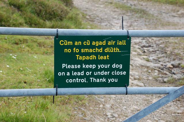 Bilingual sign, Ben Tongue track