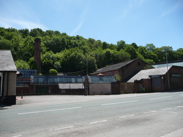 Old factory buildings in the Greenfield Valley