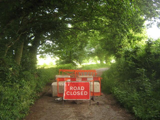 Preston Lane is closed