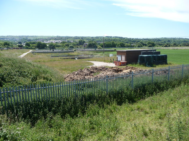 Sewage works at Greenfield Dock