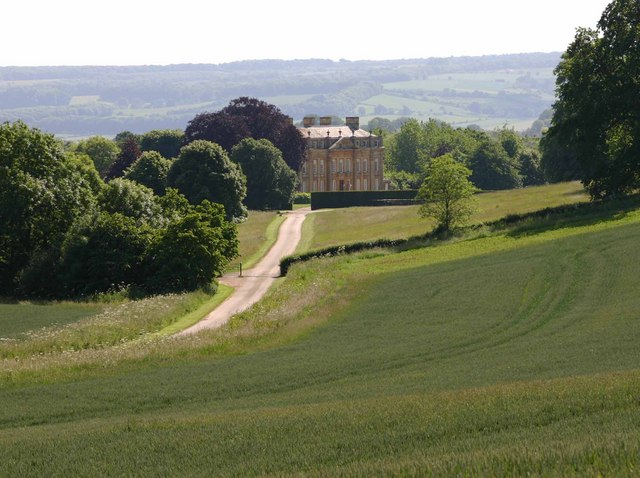 Distant view of Foxcote House