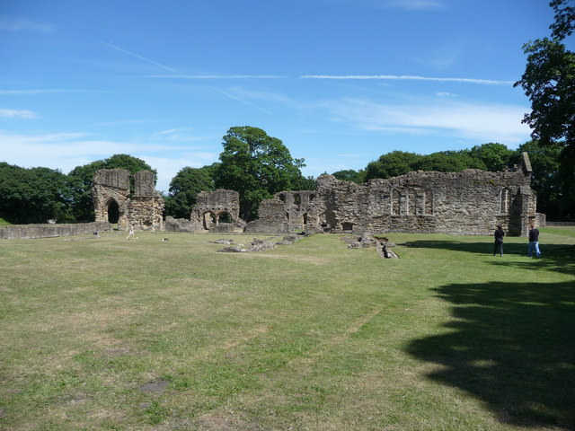 The ruins of Basingwerk Abbey