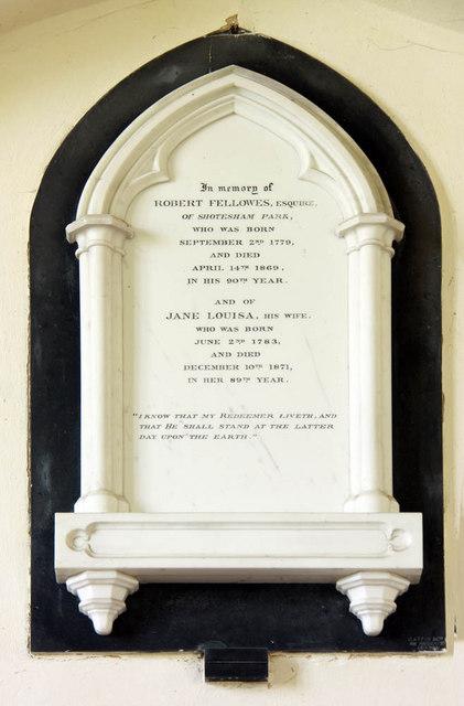 St Mary, Shotesham, Norfolk - Wall monument