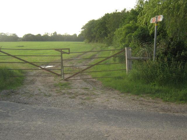 Footpath crosses Plurenden Road
