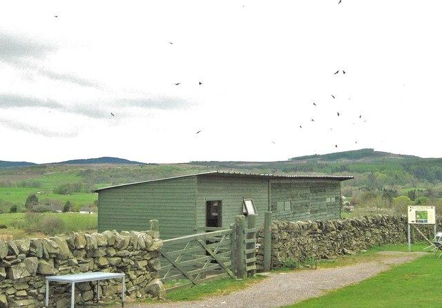 R.S.P.B. bird hide, Bellymack Farm