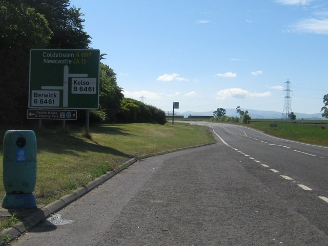 Lay-by near the junction of the A697 and the B6461