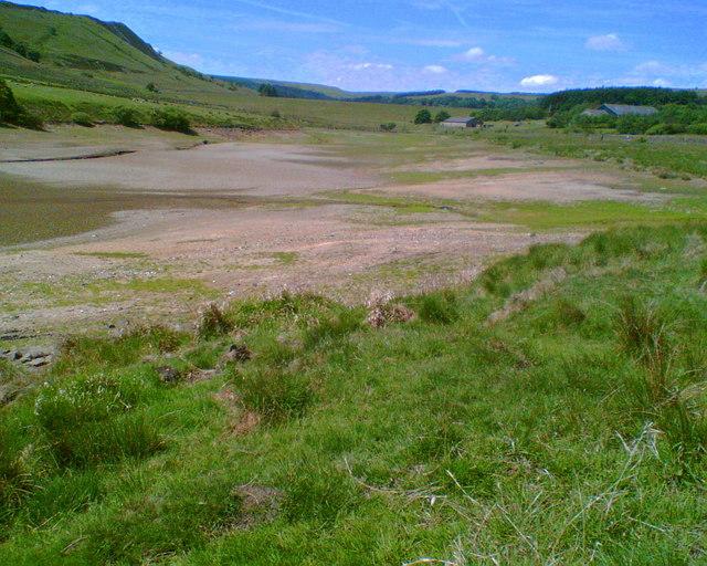 Drought, Holden Wood Reservoir, Haslingden Grane