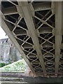 SH7877 : Detail from beneath road bridge at Conwy by Richard Hoare