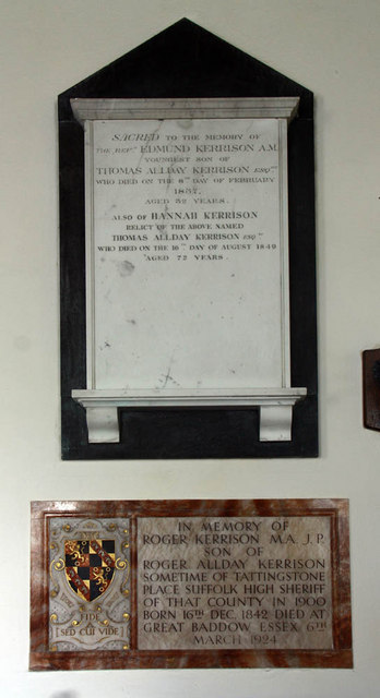 St Margaret, Kirstead, Norfolk - Wall monument
