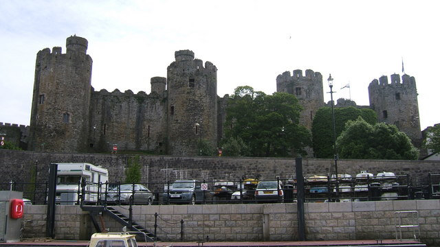 Conwy Castle viewed from River Conwy