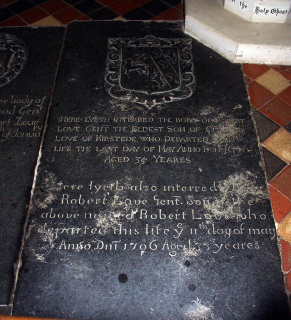 St Margaret, Kirstead, Norfolk - Ledger slab