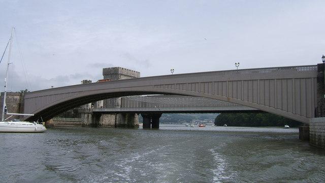 A 547 road bridge at Conwy