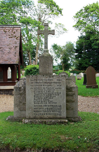 St Margaret, Kirstead, Norfolk - Memorial WWI