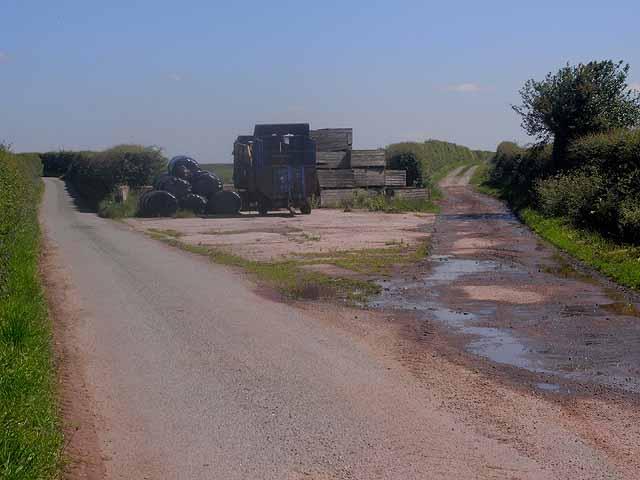 Road junction at Ellerton