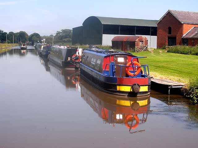 Narrow Boats on the Shropshire Union Canal