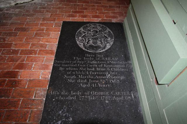 St Mary, Stone in Oxney, Kent - Ledger slab
