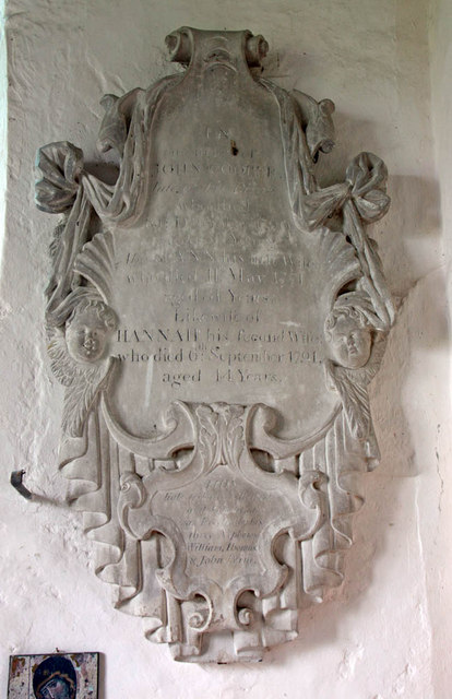 St Mary, Stone in Oxney, Kent - Wall monument