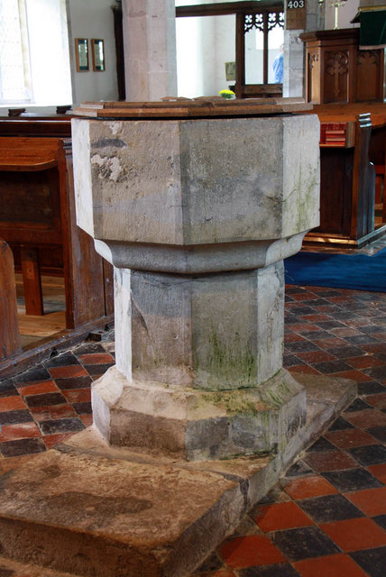 St Mary, Stone in Oxney, Kent - Font