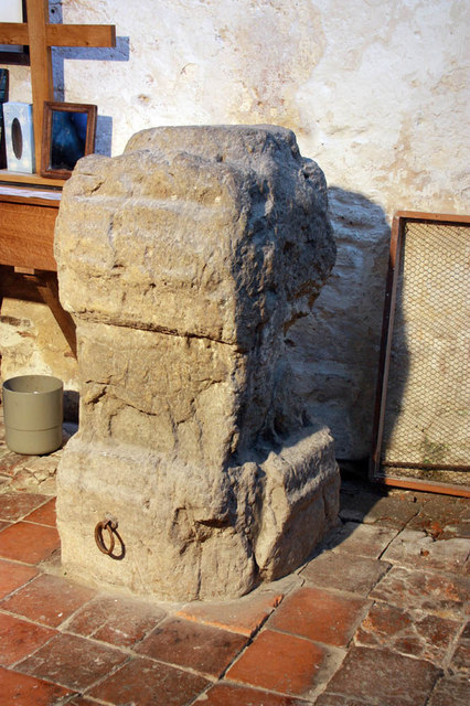 St Mary, Stone in Oxney, Kent - Altar stone
