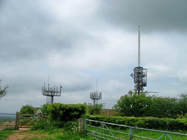 Communication masts on Ebrington Hill