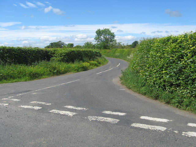 Minor road passing Rowchester House