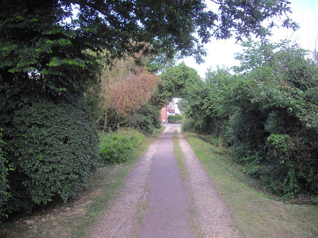 Alleyway from St Jude Close leading to St Johns Road, Colchester
