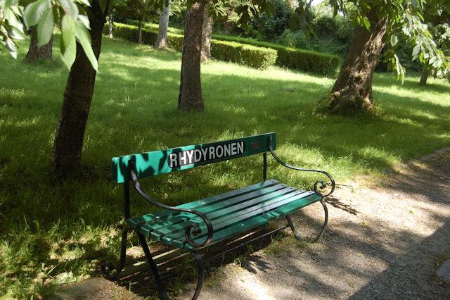 Rhydyronen station seat