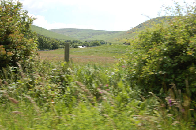 Land at Cynfal Farm from track overbridge