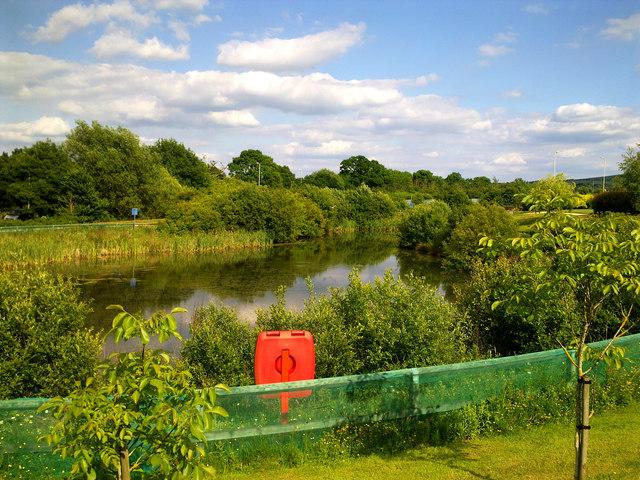 Flood storage lagoon, Great Western Hospital, Swindon
