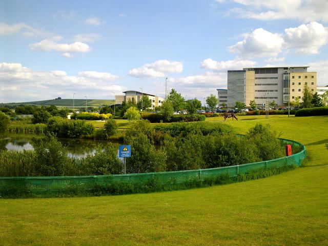Great Western Hospital in the sunshine, Swindon