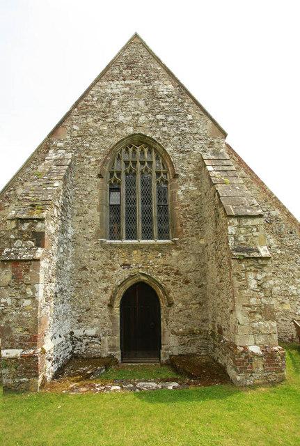 St Michael, Playden, Sussex - West doorway