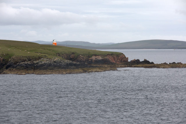 Beacon on Little Roe, Yell Sound