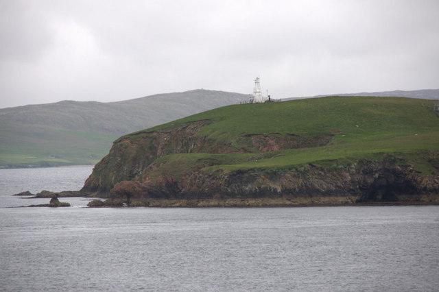 South end of Lamba, Yell Sound