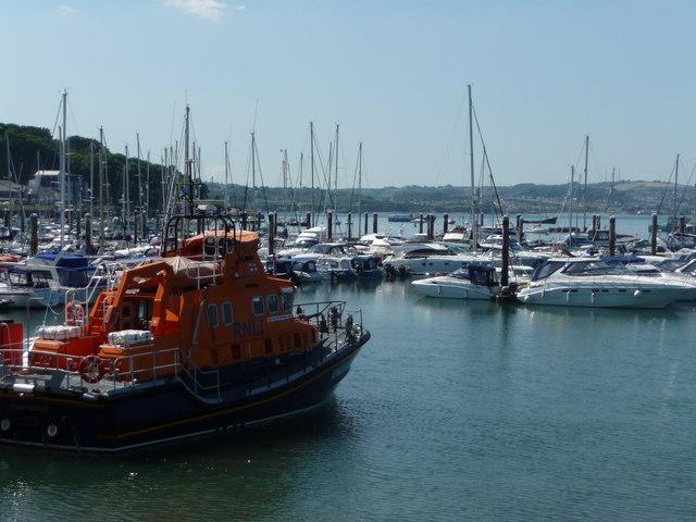 Brixham : Brixham Harbour & RNLI Lifeboat