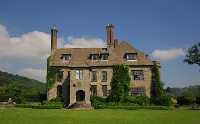 Llangoed Hall Hotel: the south-east front