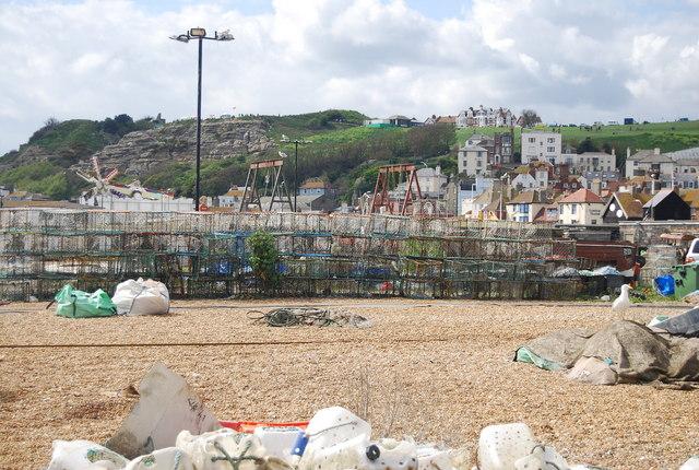 Pots, Hastings beach