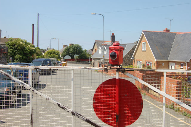 Level crossing at Pendre station
