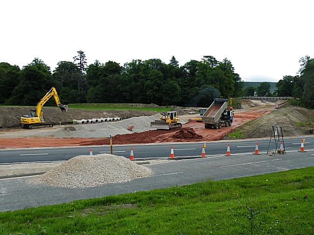 Fochabers Bypass Roadworks, Midsummer 2010 (2)