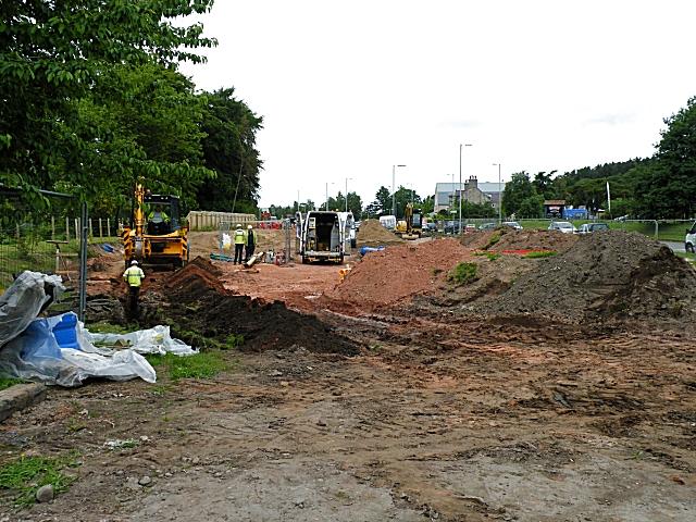 Fochabers Bypass Roadworks, Midsummer 2010 (4)