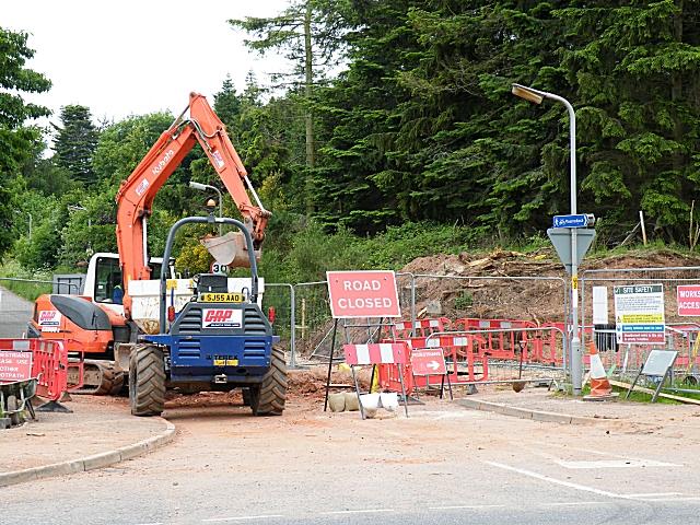 Fochabers Bypass Roadworks, Midsummer 2010 (5)